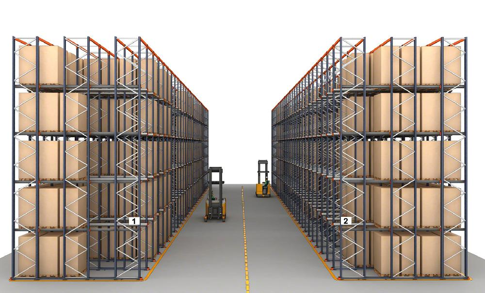 Dans les systèmes drive-in, l'utilisation de rails de guidage est indispensable pour garantir la sécurité des opérateurs