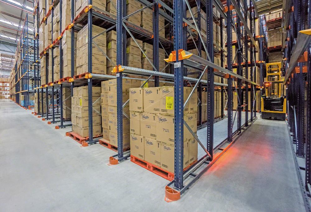 Les rails de guidage LPN sont utilisés lorsque les installations exigent le stockage des produits au niveau du sol