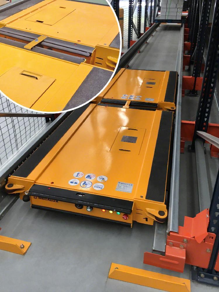 Les navettes semi-automatiques incluent la fonction de secours, qui permet de récupérer la navette Pallet Shuttle en cas d'incident