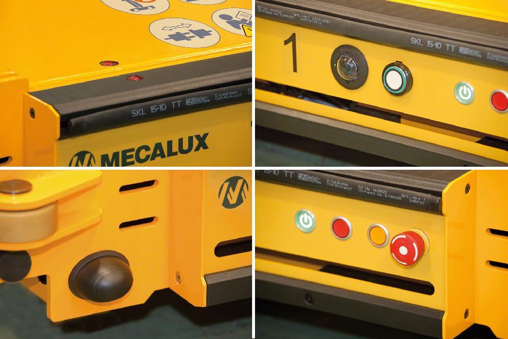 Le système Pallet Shuttle dispose de nombreux éléments de sécurité comme le bouton-poussoir d'arrêt d'urgence