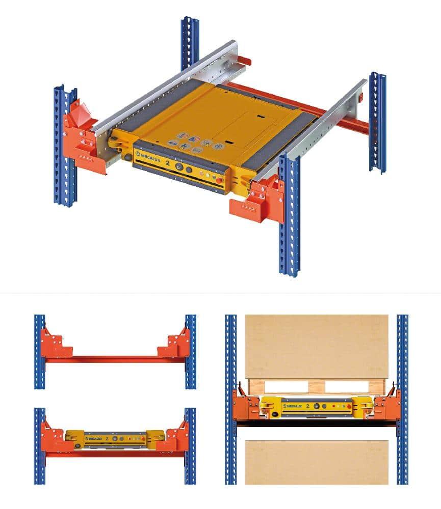 La structure du rayonnage doit être adaptée pour que la navette électrique fonctionne en toute sécurité